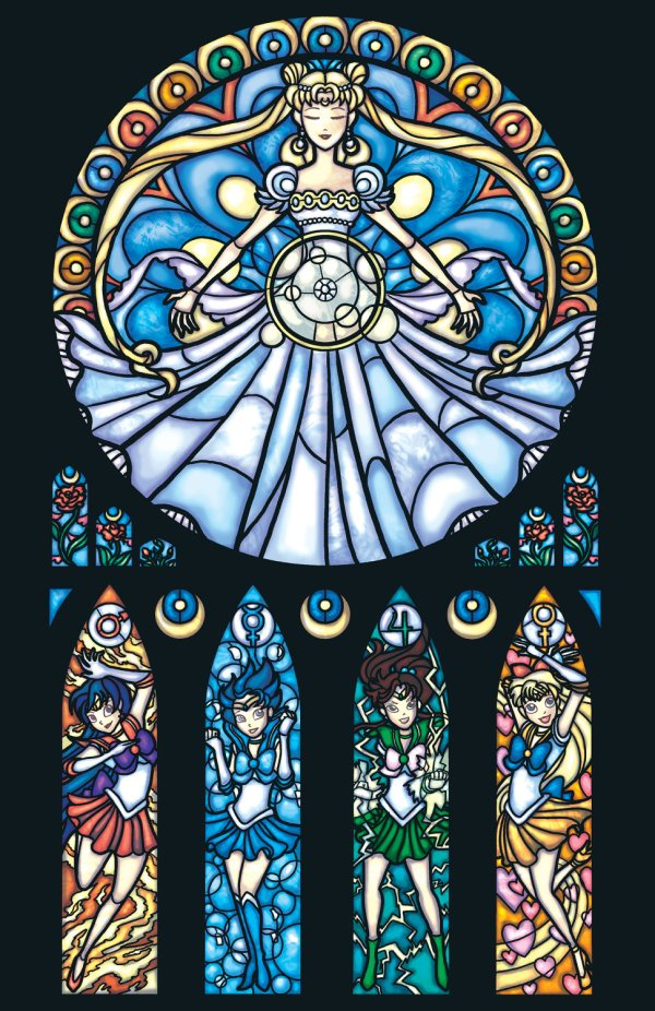 Iconic Stained Glass Sailor Moon