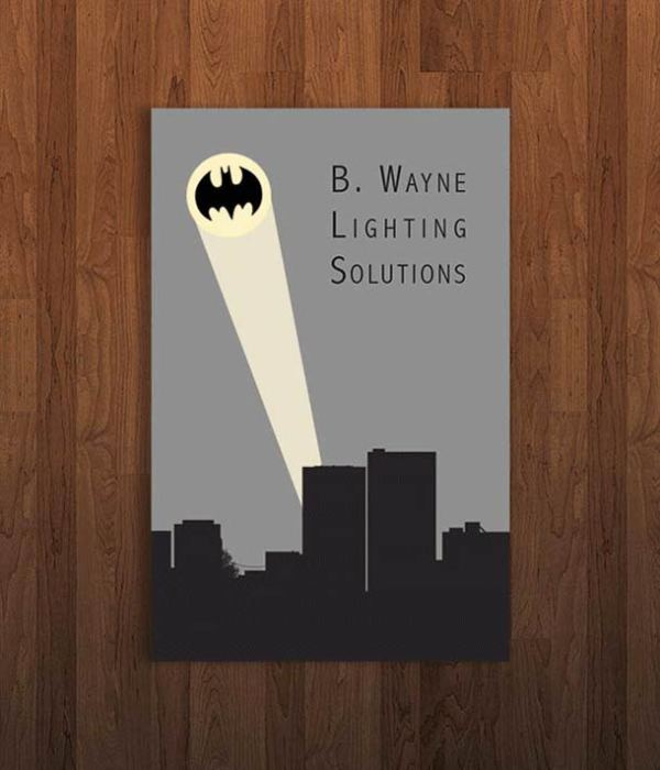 Pop Culture Icon Business Cards Batman