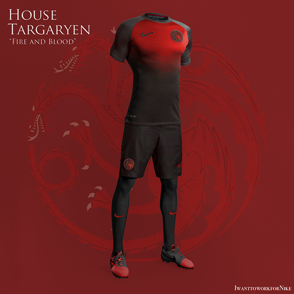 Game of Thrones World Cup Nike Concepts House Targaryn