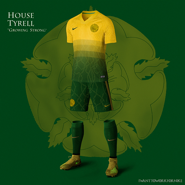 Game of Thrones World Cup Nike Concepts House Tyrell