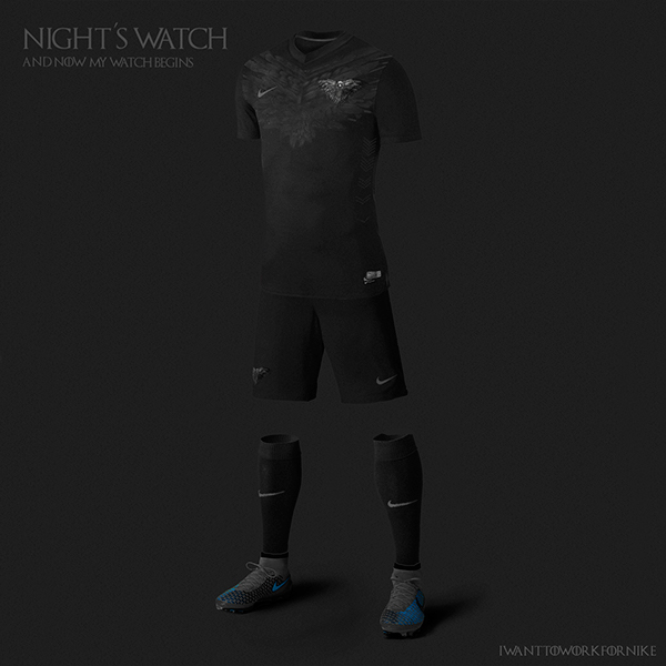 Game of Thrones World Cup Nike Concepts Nights Watch