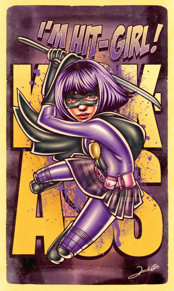 Iconic Series and Movie Heroes hit girl