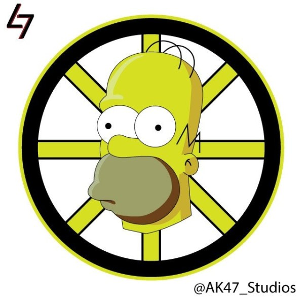 Simpsonized NHL Logos Homer Simpson