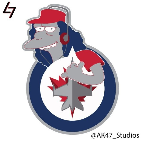 Simpsonized NHL Logos Oskar Simpson