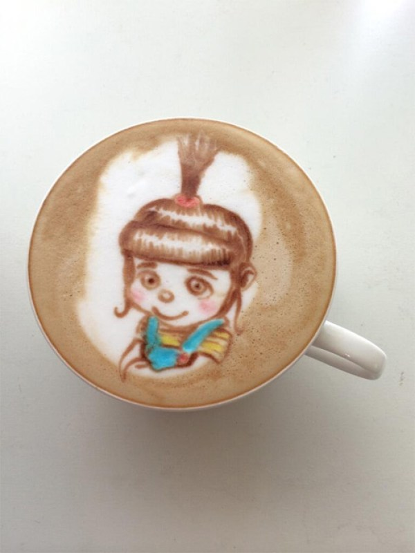 Colorful Caffe Latte Art despicable me