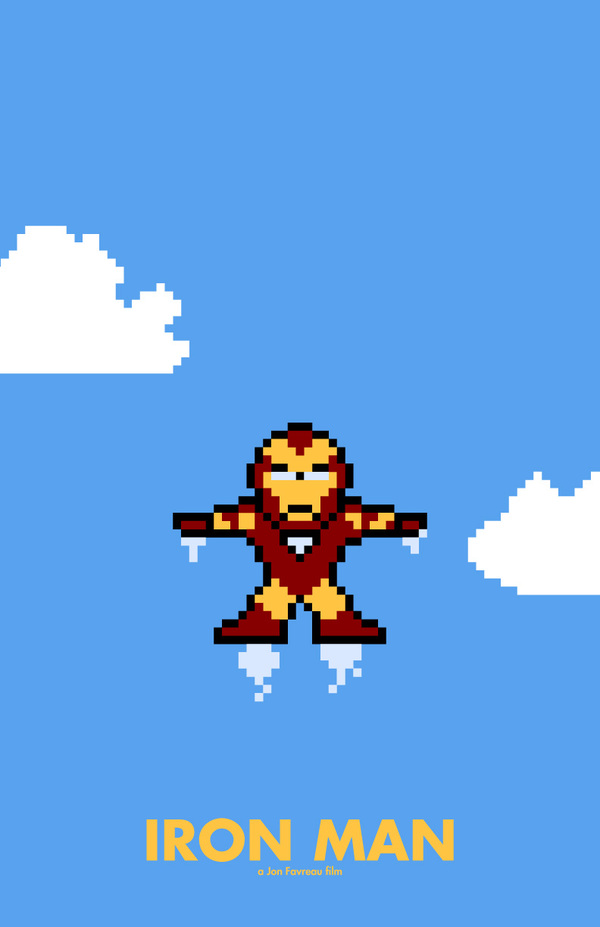 8-Bit Movie Posters by Eric Palmer iron man