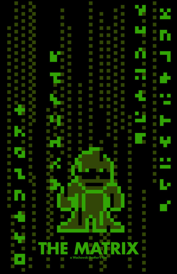 8-Bit Movie Posters by Eric Palmer the matrix