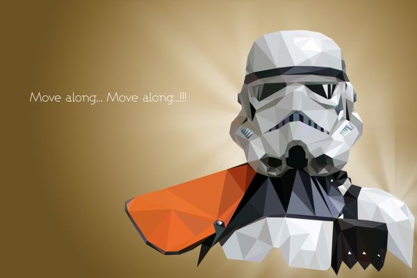 Star Wars Low Poly Portraits Storm trooper