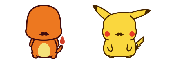 Gentlemon by Nicholas Poulos Charmander Pikachu