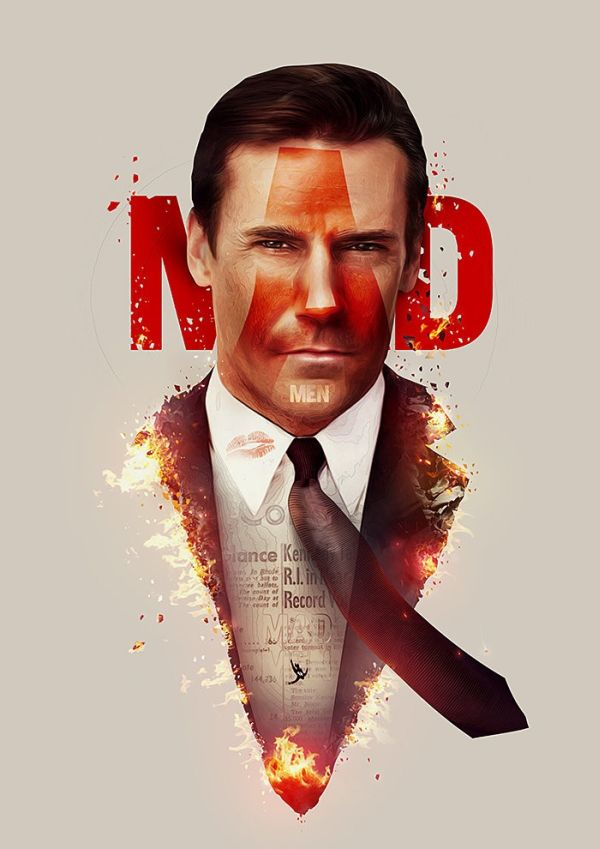TV Show Poster Series by Adam Spizak Mad Men