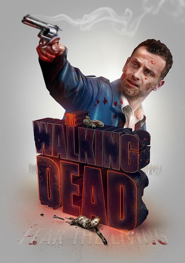 TV Show Poster Series by Adam Spizak The Walking Dead