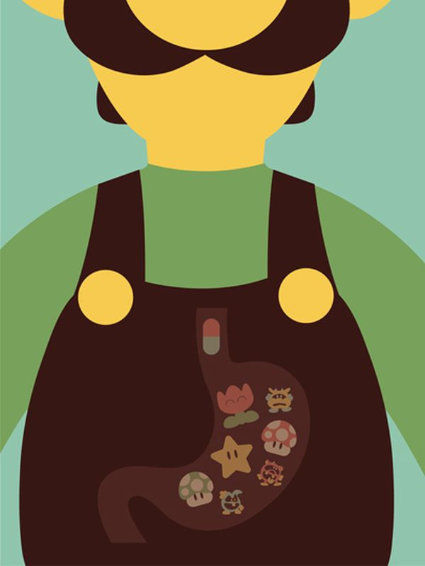 Video Game Character Illustrations by Andrew Heath Luigi
