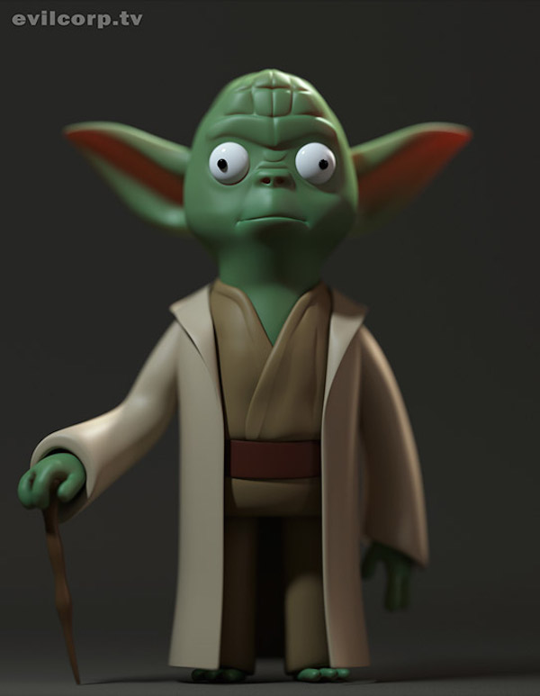 Star-Wars-Digital-Vinyl-Caricature-by-Evil-Corp-Yoda