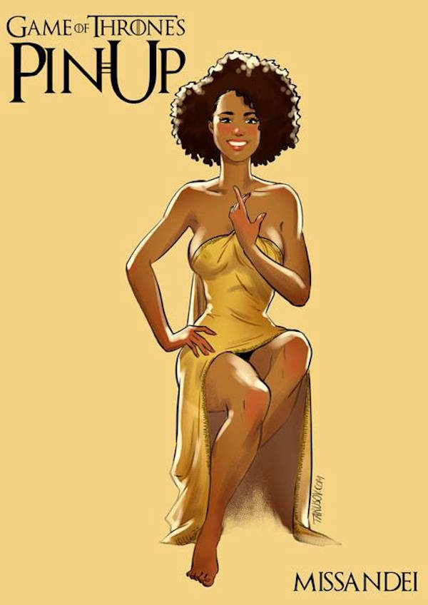 Game-of-Thrones-Pin-Ups-Missandei-Andrew-Tarusov