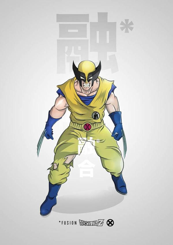 Batman meets Dragon Ball Z Pop Culture Mashups by PIERRE-MARIE LENOIR Wolverine