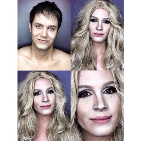 Makeup Transforms Into Various Female Celebrities by Paolo Ballesteros 02