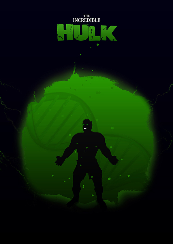 Marvel Hero Silhouette by Jason Stanley Hulk