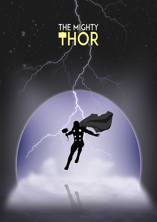 Marvel Hero Silhouette by Jason Stanley Thor