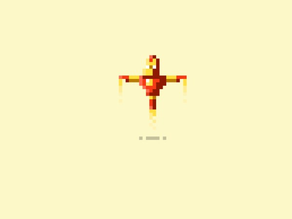 Pixelated Art by James Boorman Iron Man