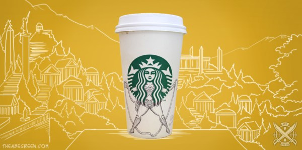 The Secret Life of the Starbucks Siren by Abe Green Wonder Woman