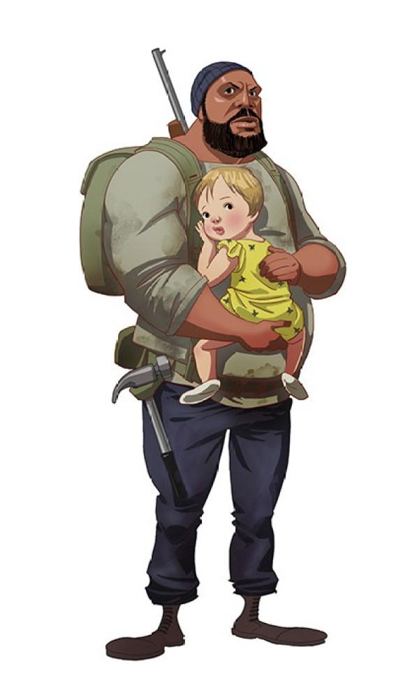 Walking Dead Cartoon by Edward Pun Tyreese