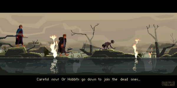 Cult Movies Pixel Art by Gustavo Viselner Lord of The Rings