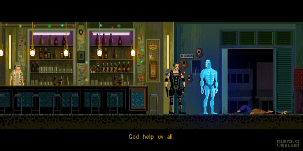 Cult Movies Pixel Art by Gustavo Viselner Watchmen