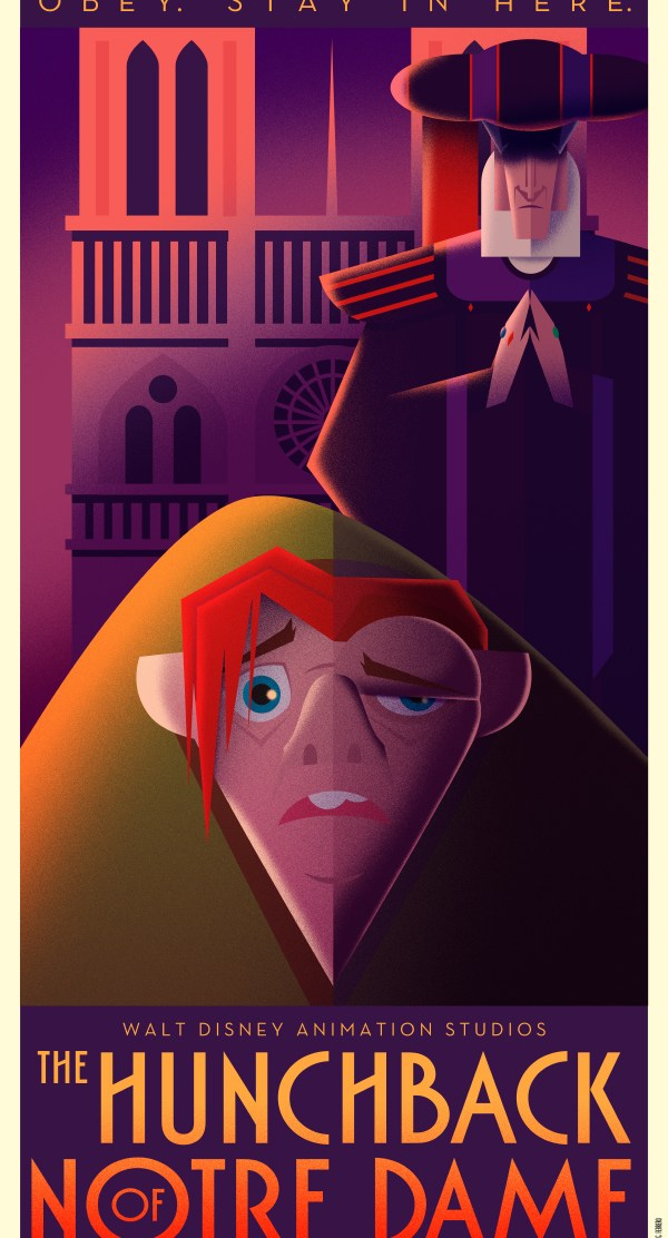 Disney Art Poster by David G. Ferrero The Hunchback of Notre Dame