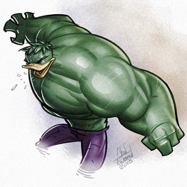 Ducktales Avengers Mash up by Chad Townsend Hulk