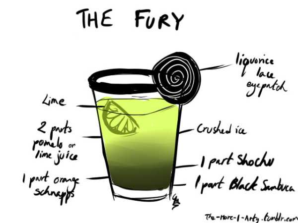 Avengers Cocktails by the-more-i-arty The Fury