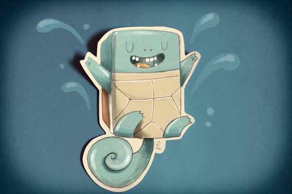 Square Pokemon Characters by Douglas Ferreira Squirtle