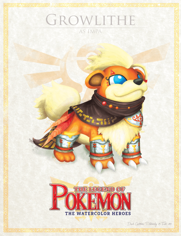 Pokemon Zelda Mashup by David Pilatowsky Growlithe