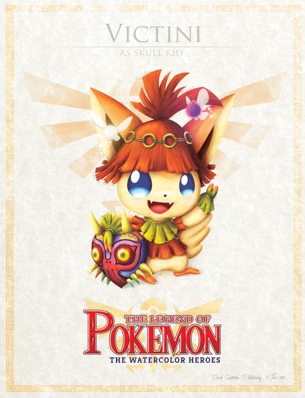 Pokemon Zelda Mashup by David Pilatowsky Victini