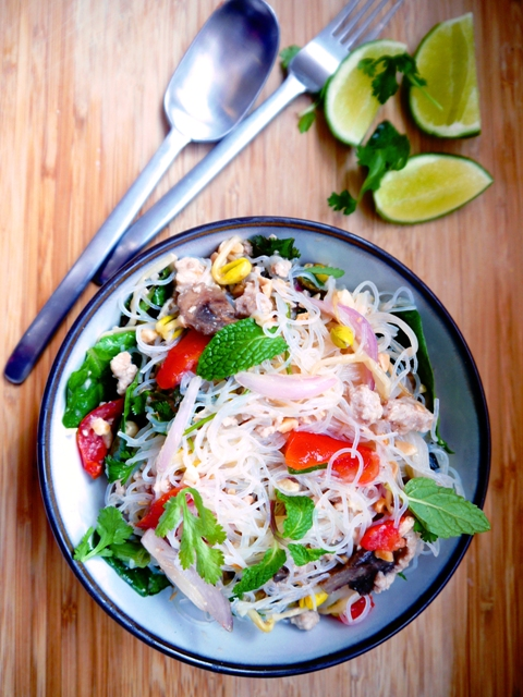 Yum Woon Sen | Spicy Thai Glass Noodles Salad Recipe | ยำวุ้นเส้น