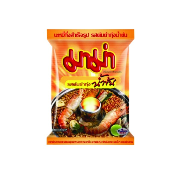 Creamy Tom Yum Shrimp Flavour Instant Noodles From Thailand - Mama Brand - 1 Pack