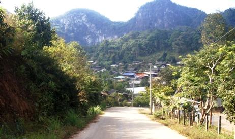 Einfahrt ins Teedorf Pang Kham