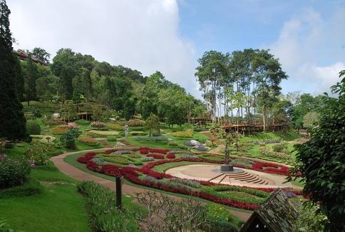 Mae Fah Luang Royal Flower Garden, Blumengarten der königlichen Mutter, Doi Tung