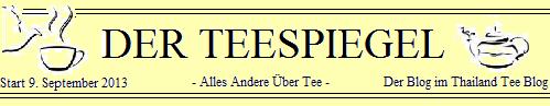 DER TEESPIEGEL - Der Blog im Thailand Tee Blog: Logo