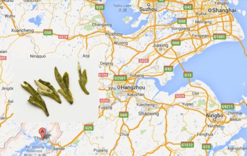 """Landkarte unseres Wilden Long """"Drachenbrunnen"""" Tee mit """"Spatzenzungen"""""""