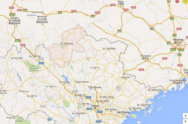 Tee-Provinz Ha Giang - Vietnam Map