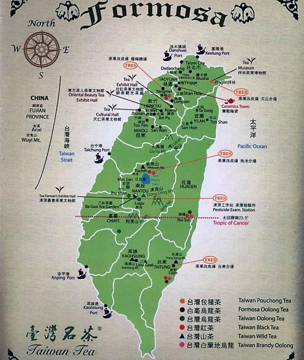 Taiwan Tee-Landkarte