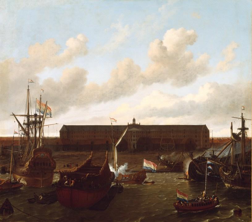Dock der Dutch East India Company in Amsterdam