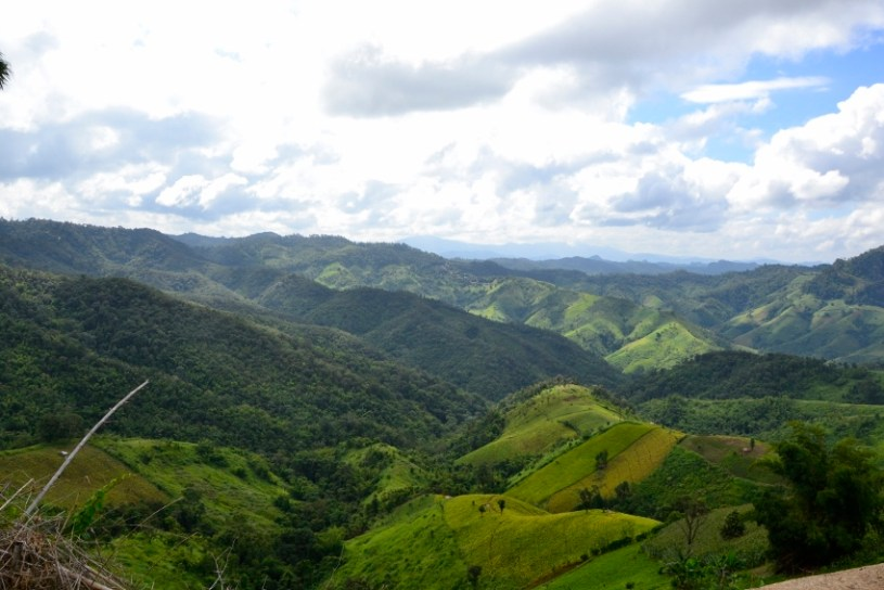 highland panorama view of the northern Thai / Myanmar border region