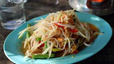 Som Tam, the famous spicy papaya salad
