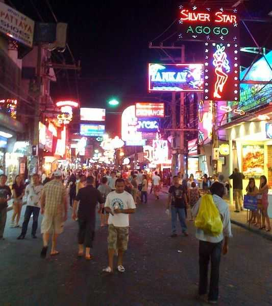 Walking Street in the evening
