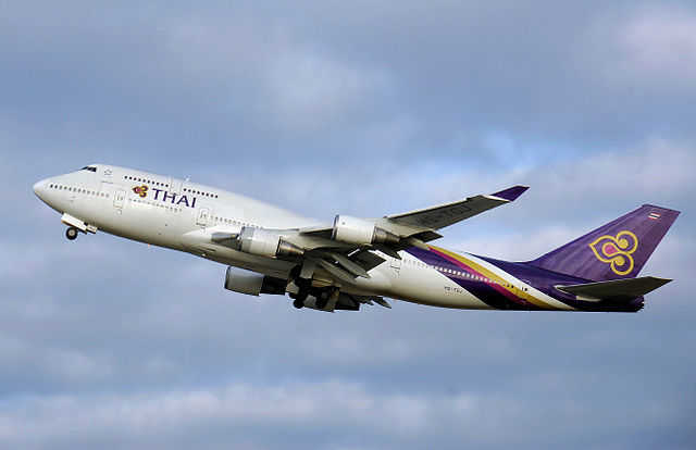 Thai airway aircraft