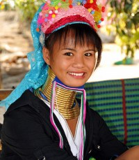 Chiang mai Thailand - Hill tribes, long neck women