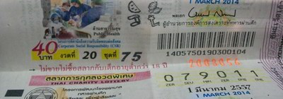 Thai lottery results 16 April 2014