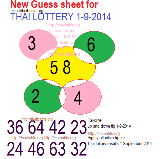 higly effective tip Thai lottery results 1-9-2014