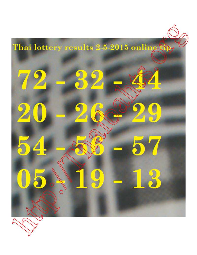 Thai lottery results 2-5-2015 online best tip